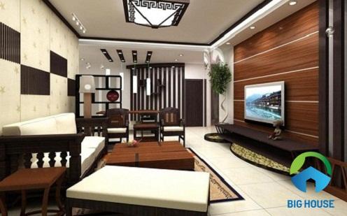 mẫu gạch ốp tường phòng khách ý mỹ