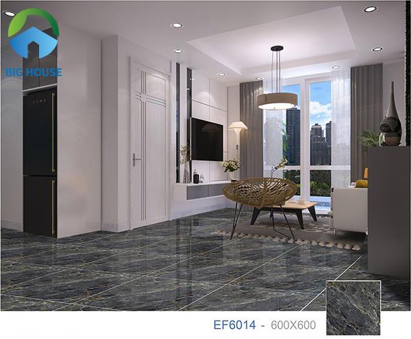 Tham khảo gạch Ý Mỹ EF6014 lát nền phòng khách đẹp