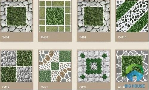 mẫu gạch sân vườn ý mỹ