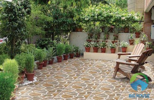 gạch lát sân vườn ý mỹ đẹp