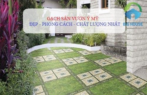 Cách ứng dụng gạch lát sân vườn Ý Mỹ cho không gian ngoại thất