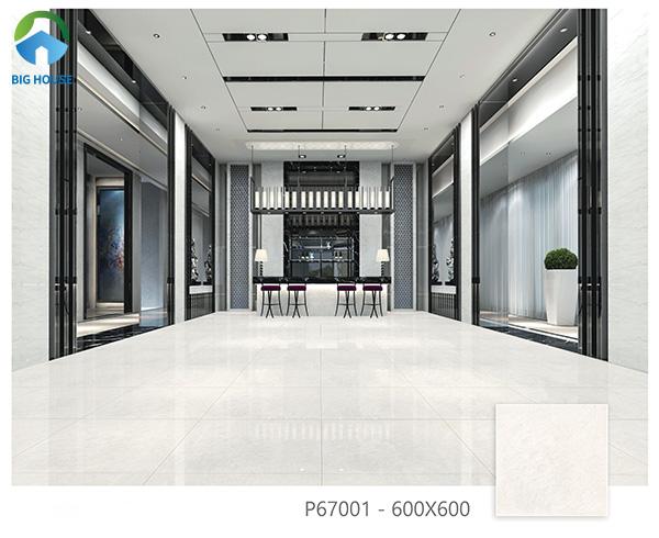 Mẫu gạch lát nền chống xước Ý Mỹ P67001 bề mặt men bóng sang trọng