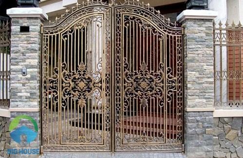 gạch ốp cổng rào