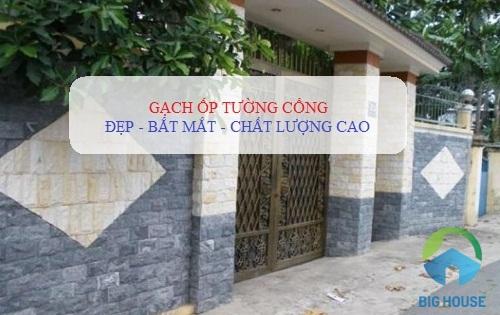 gạch ốp tường cổng