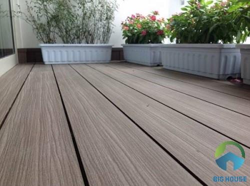 gạch giả gỗ lát sân thượng