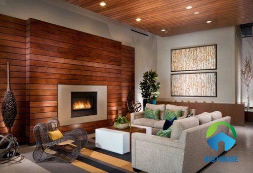 Gạch giả gỗ ốp tường ý mỹ