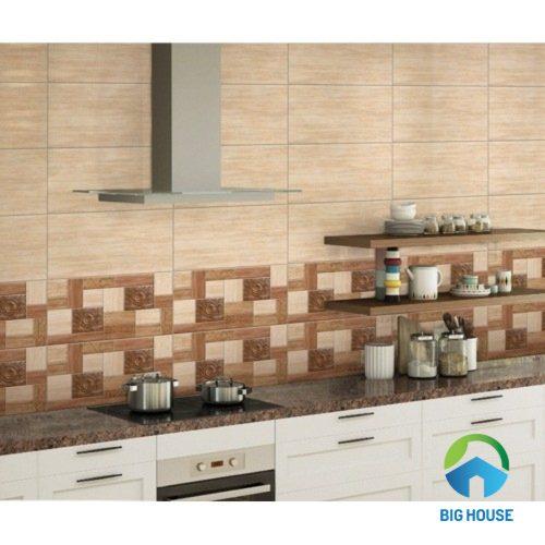 Cách mẫu gạch ốp tường giả gỗ ý mỹ