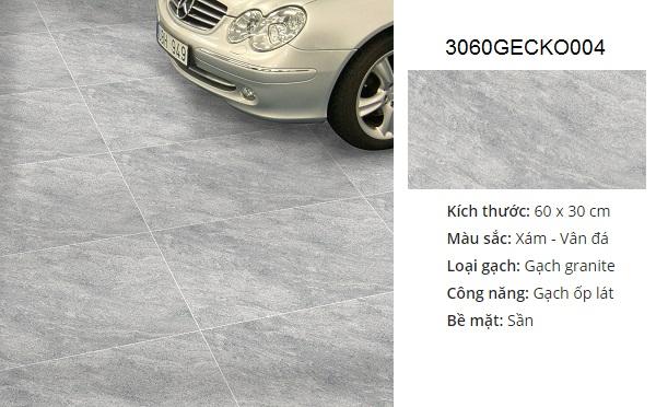 gạch lát nền nhà để xe đồng tâm 3060GECKO004 chống trơn tốt