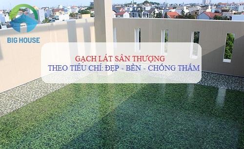 Gạch lát sân thượng: TOP mẫu gạch đẹp nhất cùng bảng giá chi tiết