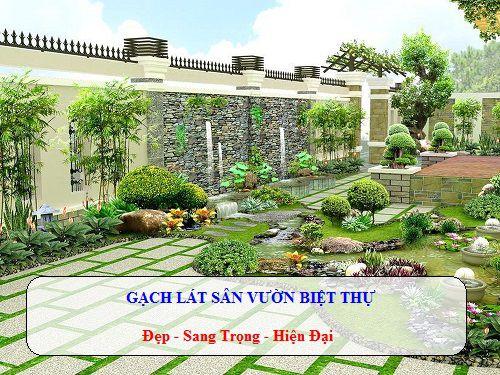 BST mẫu gạch lát sân vườn biệt thự đẹp và chống trơn tốt nhất 2020