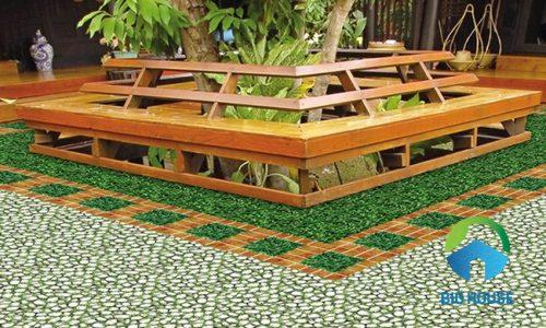 Gạch lát sân vườn biệt thự chống trơn