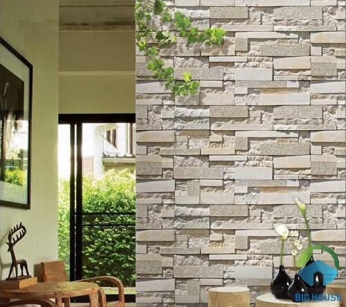 Gạch thẻ ốp tường giả đá