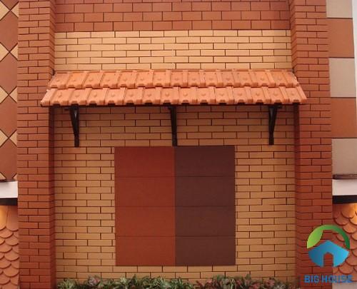 gạch thẻ ốp tường màu đỏ 1