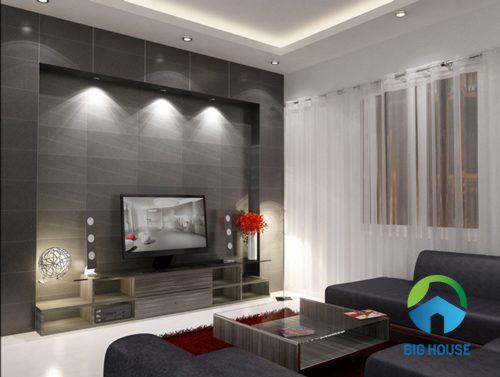 Phối màu gạch ốp tường phòng khách 4
