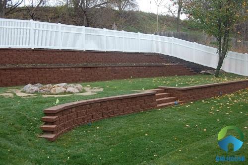 mẫu gạch ốp tường rào đẹp 3