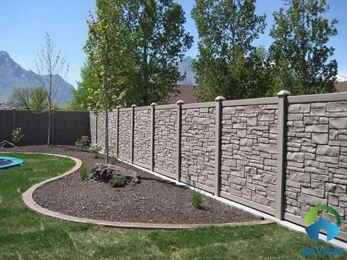 mẫu gạch ốp tường rào đẹp