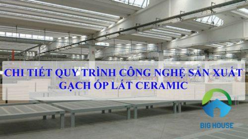 Quy trình công nghệ sản xuất gạch ốp lát Ceramic CHUẨN quốc tế