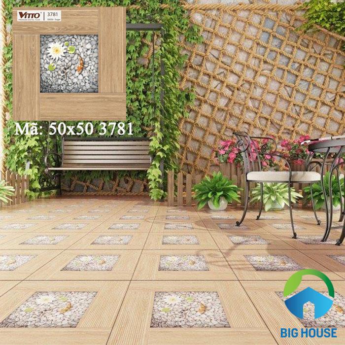 mẫu gạch lát sân nhà vitto 3781