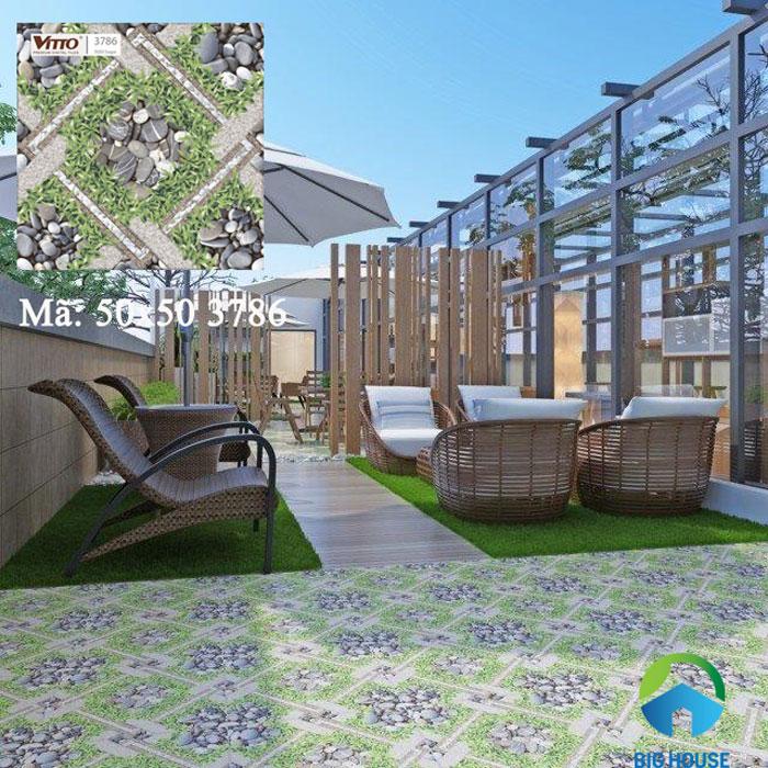 mẫu gạch lát sân nhà đẹp 3786