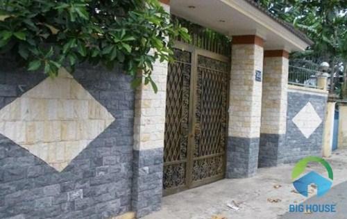 mẫu gạch giả đá ốp cổng