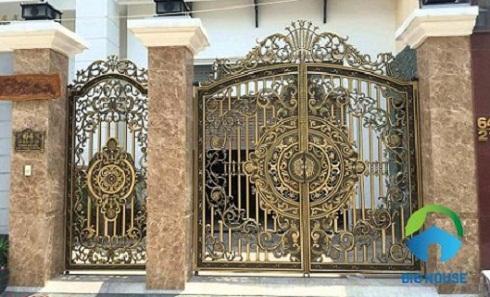 gạch giả đá ốp cổng 9