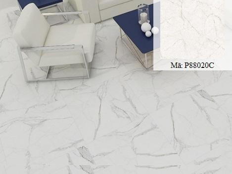 Họa tiết giả đá Marble với gam màu trắng