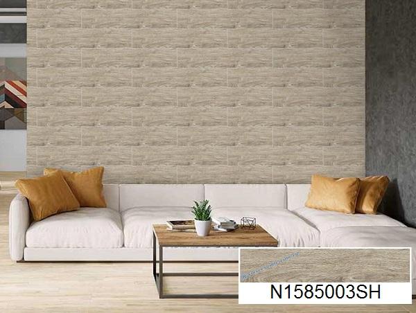 gạch ốp tường giả gỗ ý mỹ
