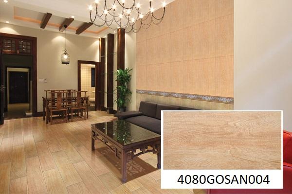 gạch vân gỗ ốp tường đồng tâm