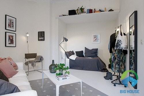 thiết kế phòng khách nhỏ 10 m2