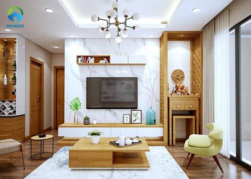 thiết kế phòng khách nhỏ 10m2 13
