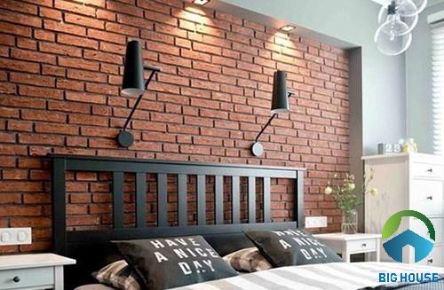 có nên ốp tường phòng ngủ bằng gạch 1