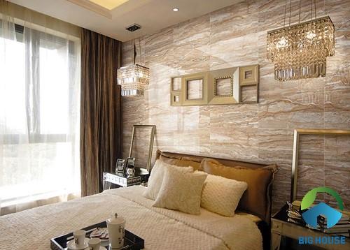 có nên ốp tường phòng ngủ bằng gạch 3