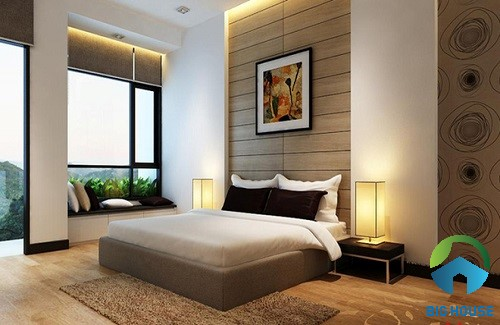 có nên ốp tường phòng ngủ bằng gạch 7
