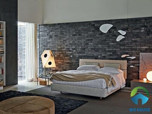 có nên ốp tường phòng ngủ bằng gạch