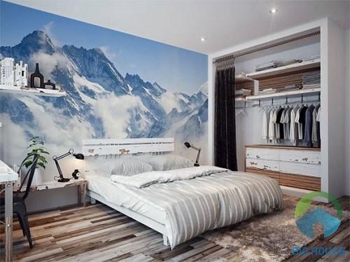 gạch 3d ốp phòng ngủ