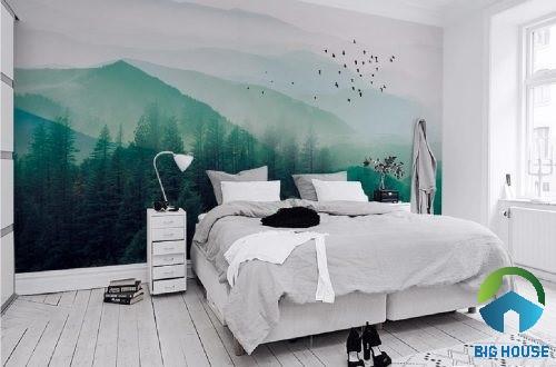 gạch 3D ốp tường phòng ngủ 1