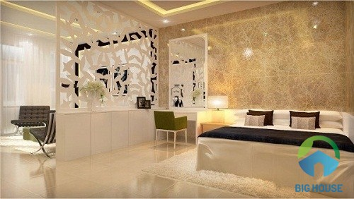 Phòng ngủ của gia chủ yêu thích nét đẹp sang trọng - hiện đại