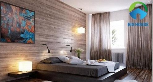 gạch ốp tường trang trí phòng ngủ của người lớn tuổi