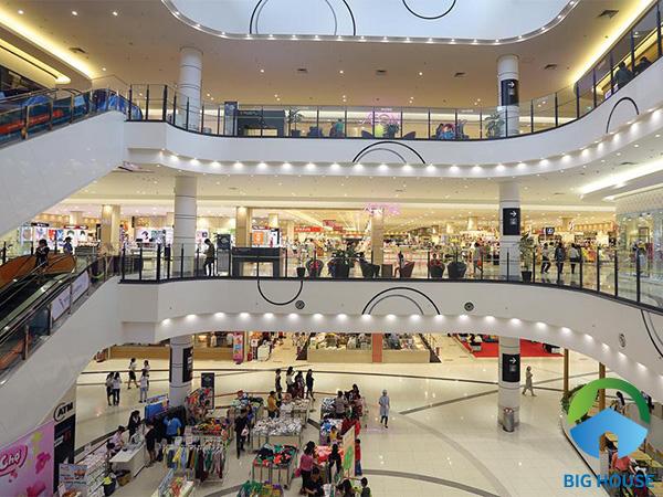 Gạch lát nền chịu lực ứng dụng cho khu trung tâm thương mại
