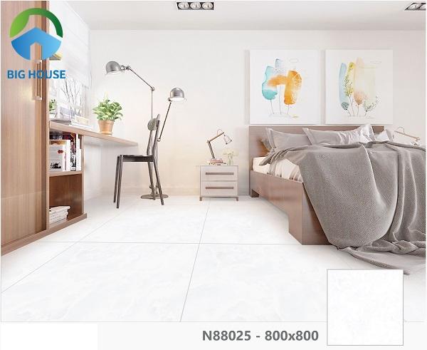 Hay bạn có thể tham khảo mẫu gạch Ý Mỹ bóng kính 2 da N88025 lát nền phòng ngủ thu hút