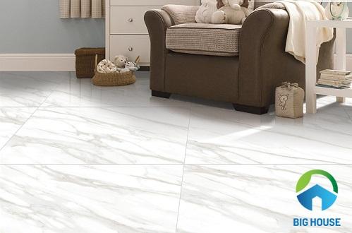 Mẫu gạch lát nền màu trắng P68085 Ý Mỹ