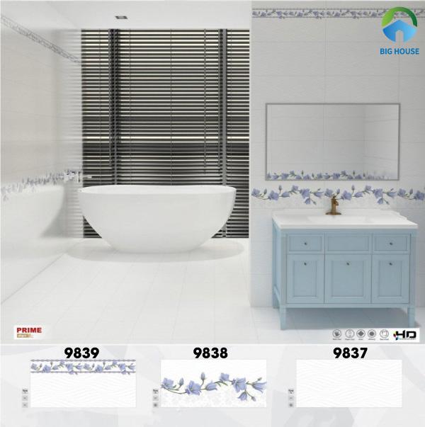 Mẫu gạch Prime 30x60 mã 9837, 9838, 9839 gam màu xanh nhạt nhẹ nhàng, tươi mát