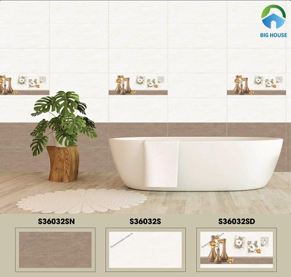 Gạch ốp nhà vệ sinh 30x60 Ý Mỹ S36032S, S36032SD, S36032SN