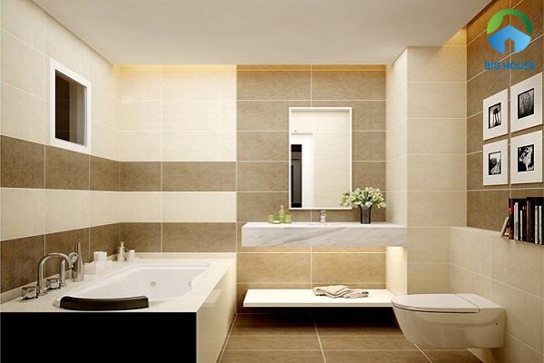 Kết hợp gạch ốp tường 30x60 cùng gạch lát nền 60x60
