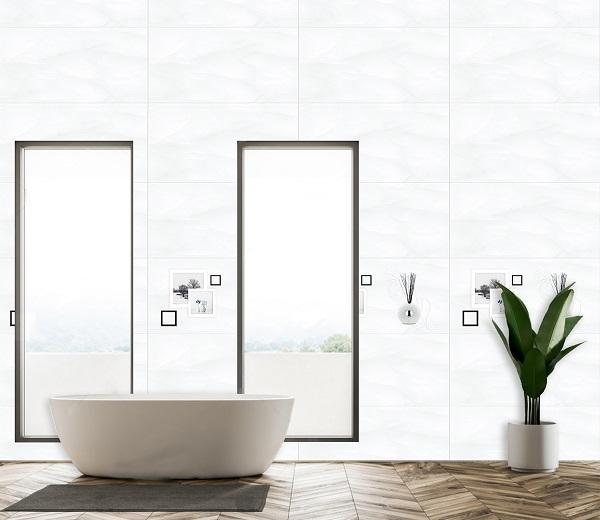 gạch ốp tường nhà vệ sinh ý mỹ 40x80 f48003