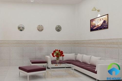 gạch ốp tường phòng khách ý mỹ 2