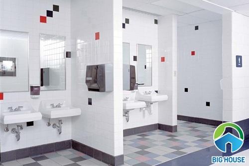 Thiết kế nhà vệ sinh trường học đạt chuẩn phong cách hiện đại