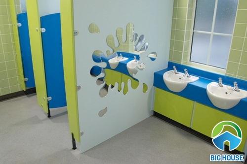 mẫu nhà vệ sinh trường mầm non