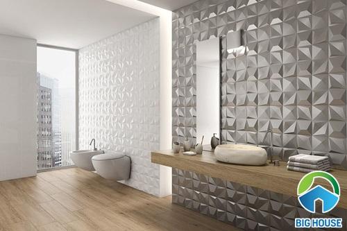 mẫu gạch ốp nhà tắm 3D