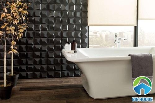ốp gạch nhà vệ sinh hiệu ứng 3D